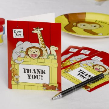 Dear Zoo Thank You Cards - pack of 10